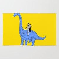 dinosaur Area & Throw Rugs featuring Dinosaur B by Isaboa