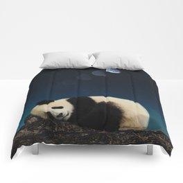 Panda sleeping Comforters