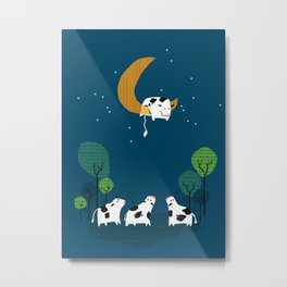 A cow jump over the moon Metal Print