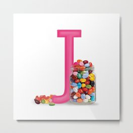 J is for Jelly beans Metal Print