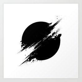 The Sun Is Black Art Print