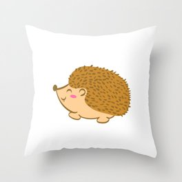 """Cute Animal Tee For Animal Lovers Saying """"Just A Girl Who Loves Hedgehogs"""" T-shirt Design Cute  Throw Pillow"""