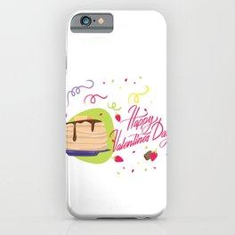 Happy Valentines Day Pancakes Valentine iPhone Case