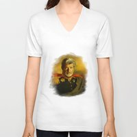 replaceface V-neck T-shirts featuring George Lucas - replaceface by replaceface