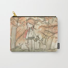 Autumn girl Carry-All Pouch