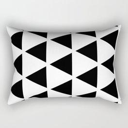 Sleyer Black on White Pattern Rectangular Pillow