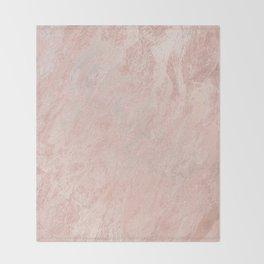 Rose Gold Foil Throw Blanket