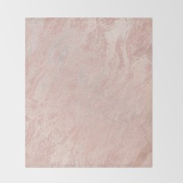 Rose Gold Foil Throw Blanket
