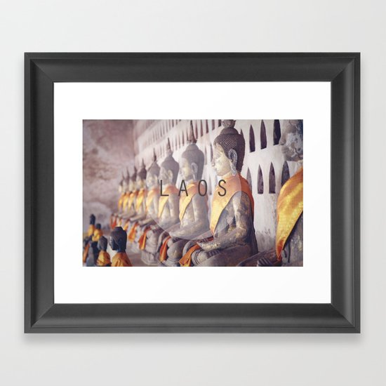 COUNTRY SERIES - LAOS Framed Art Print