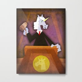 Judge Unicorn Metal Print
