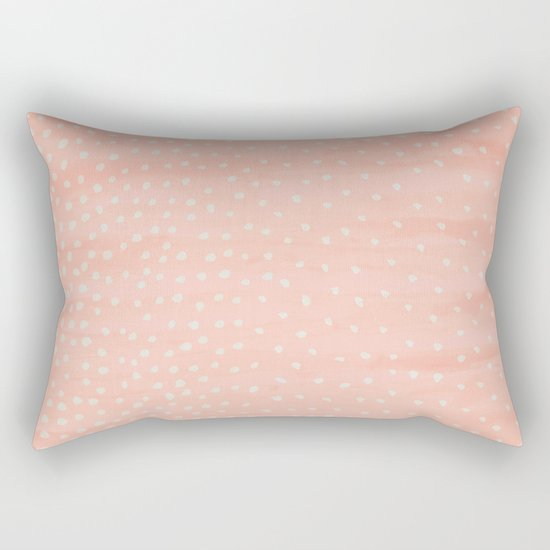 Beige Dots Rectangular Pillow