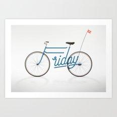 Lovely Friday Art Print