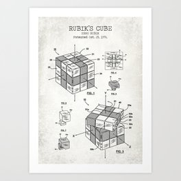 Rubik's cube old canvas Art Print