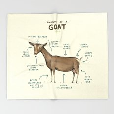 Anatomy of a Goat Throw Blanket