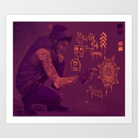 zayn Art Prints featuring Zayn by RockitRocket