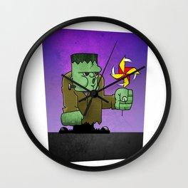 Frankenstein's Day Off Wall Clock