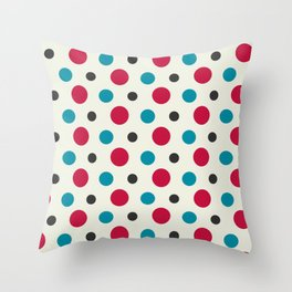 Like a Leaf [spots] Throw Pillow