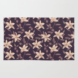 Lilies Pattern Rug