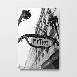 Paris Metro IV Metal Print