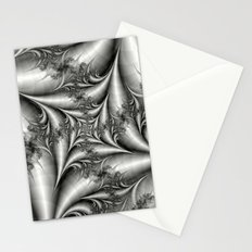 Silver Square Spiral Stationery Cards