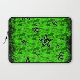 Green Toxic Stars Laptop Sleeve
