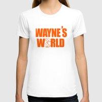 snl T-shirts featuring Waynes World logo SNL saturday night live 90s Funny Geek Nerd by jekonu