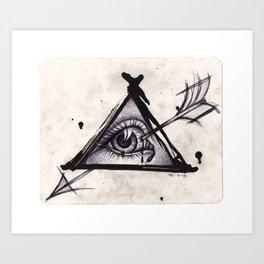 The eye. Art Print