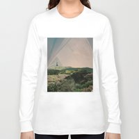 camping Long Sleeve T-shirts featuring Sky Camping by Ffion Atkinson