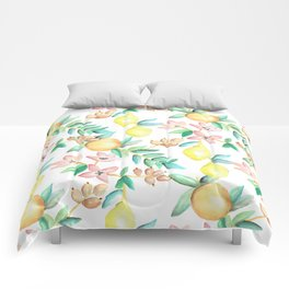 Flowers and Fruits Comforters