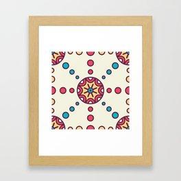 Bursting Circles Boho Design Framed Art Print