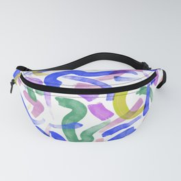Brushstroke Party Wild & Free Fanny Pack