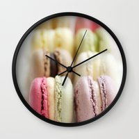 macaron Wall Clocks featuring macaron by Susigrafie