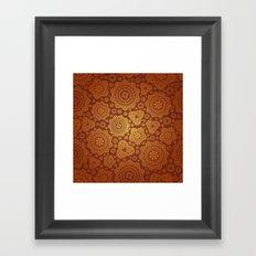 Warm Gold Paisley Pattern Framed Art Print