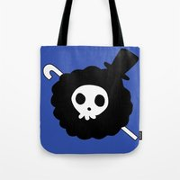 one piece Tote Bags featuring One Piece Brook yohohoho by Limon93