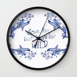 Wild Orca 2 Wall Clock