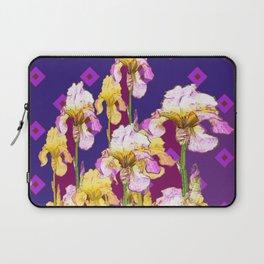 Iris Garden In Shades Of Purple Laptop Sleeve