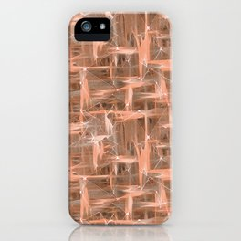 Coral geometric pattern. iPhone Case