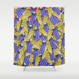 A Flock of Wild Lighters Shower Curtain