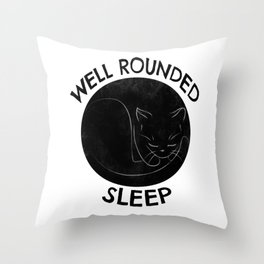 Well Rounded Sleep Throw Pillow