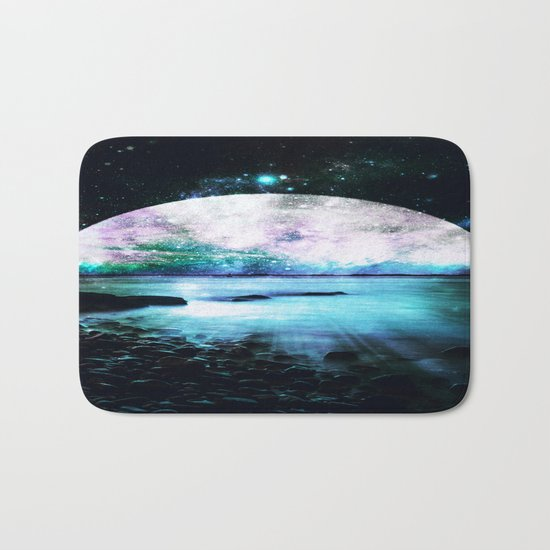 Mystic Lake Teal Violet Bath Mat