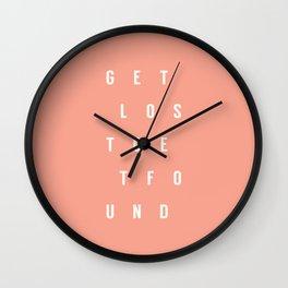 Get Lost Get Found 1.0 Wall Clock