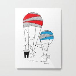 Double-Trouble Minihouse Metal Print