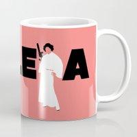 princess leia Mugs featuring Princess Leia by Vector Vectoria