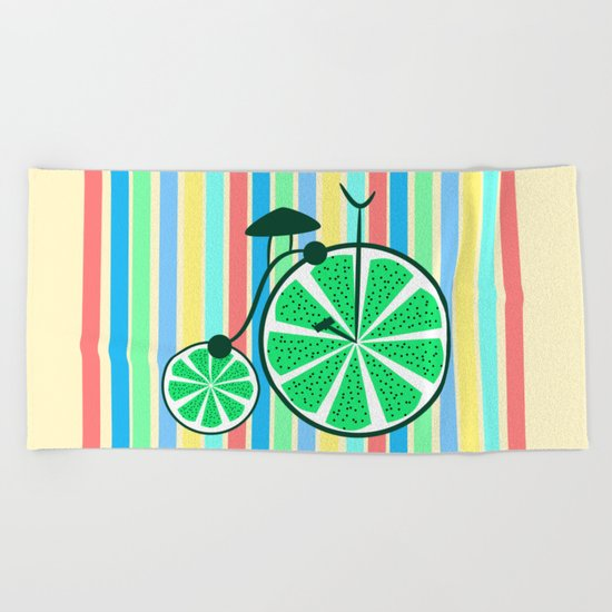 Kiwi ride Beach Towel