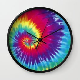 Tie dye hippie Wall Clock