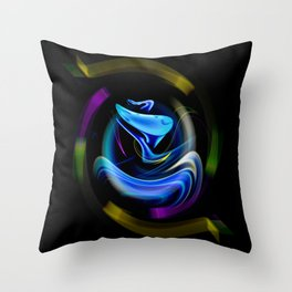 Abstract perfection - Snake Throw Pillow