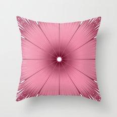 Mauve Pink Flower Throw Pillow