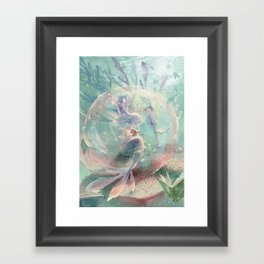 LOVE TO READ   Inside The Bubble Framed Art Print
