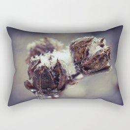 Winter Rose Of Sharon Rectangular Pillow