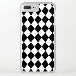 HARLEQUIN BLACK AND WHITE PATTERN #2 Clear iPhone Case